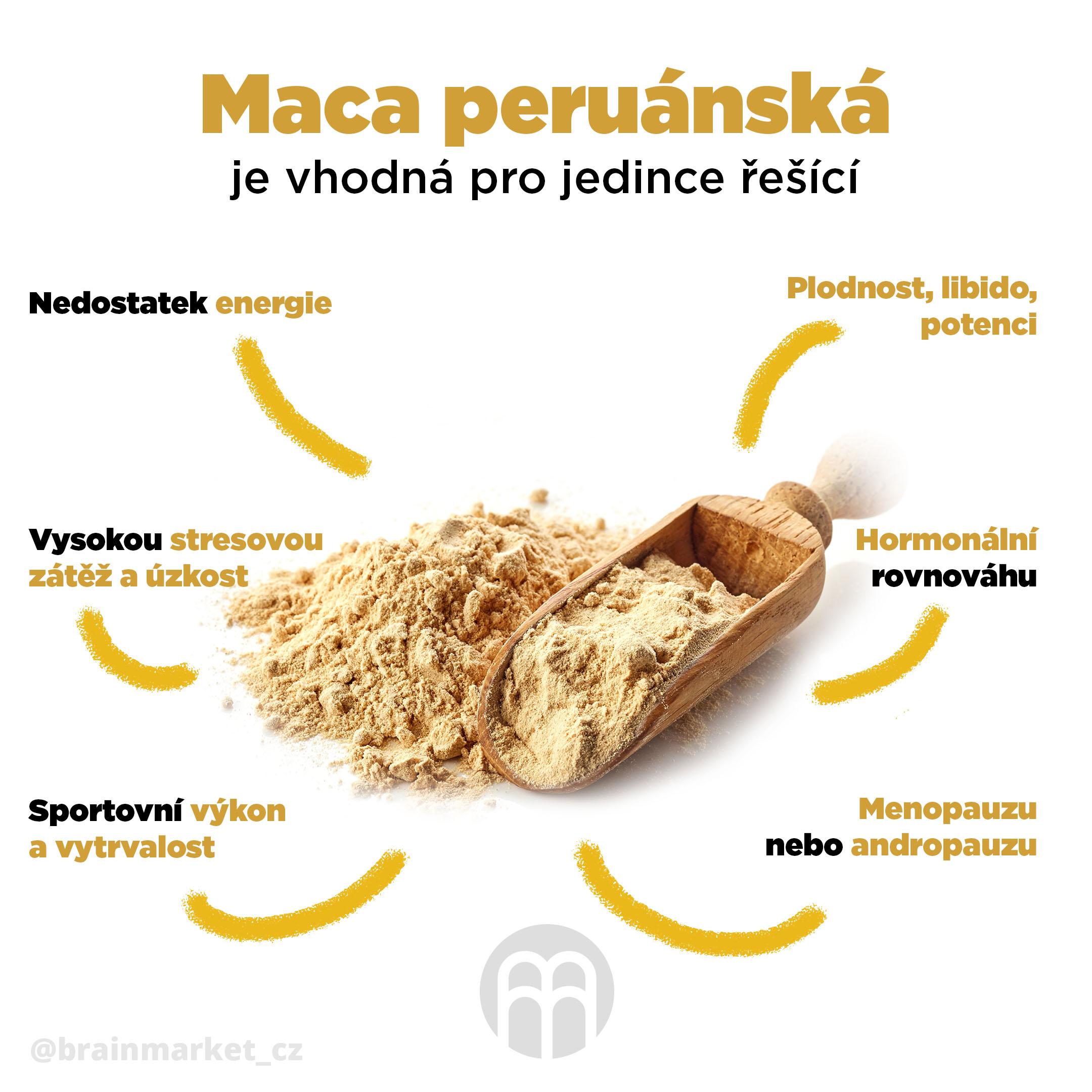 BrainMax Pure Maca, prášek | gelatinizovaná - BrainMarket.cz